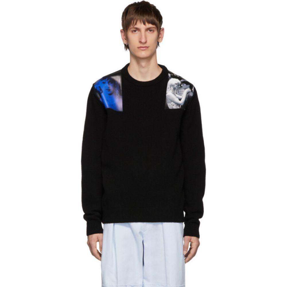 ラフ シモンズ Raf Simons メンズ ニット セーター トップス black wool crewneck sweater Black 祝成人 限定アイテム 新居祝い お見舞