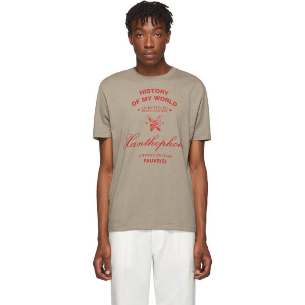 ラフ シモンズ Raf Simons メンズ Tシャツ トップス【taupe xanthrophobic slim-fit t-shirt】Beige