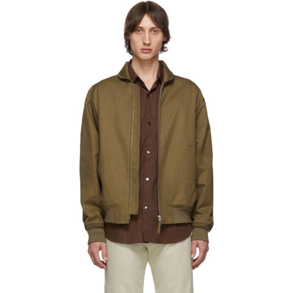 ルメール Lemaire メンズ ブルゾン ミリタリージャケット アウター【tan cotton bomber jacket】Dark earth