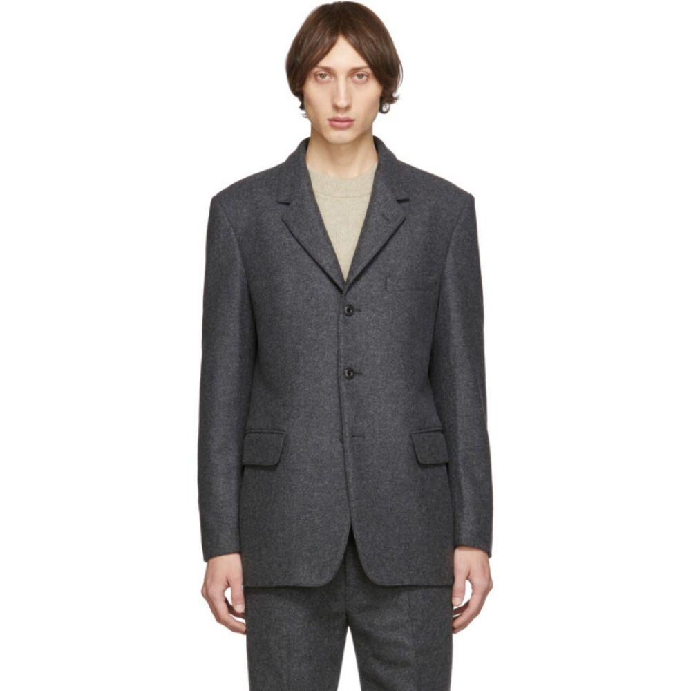 ルメール Lemaire メンズ スーツ・ジャケット アウター【grey felted wool blazer】Dark grey