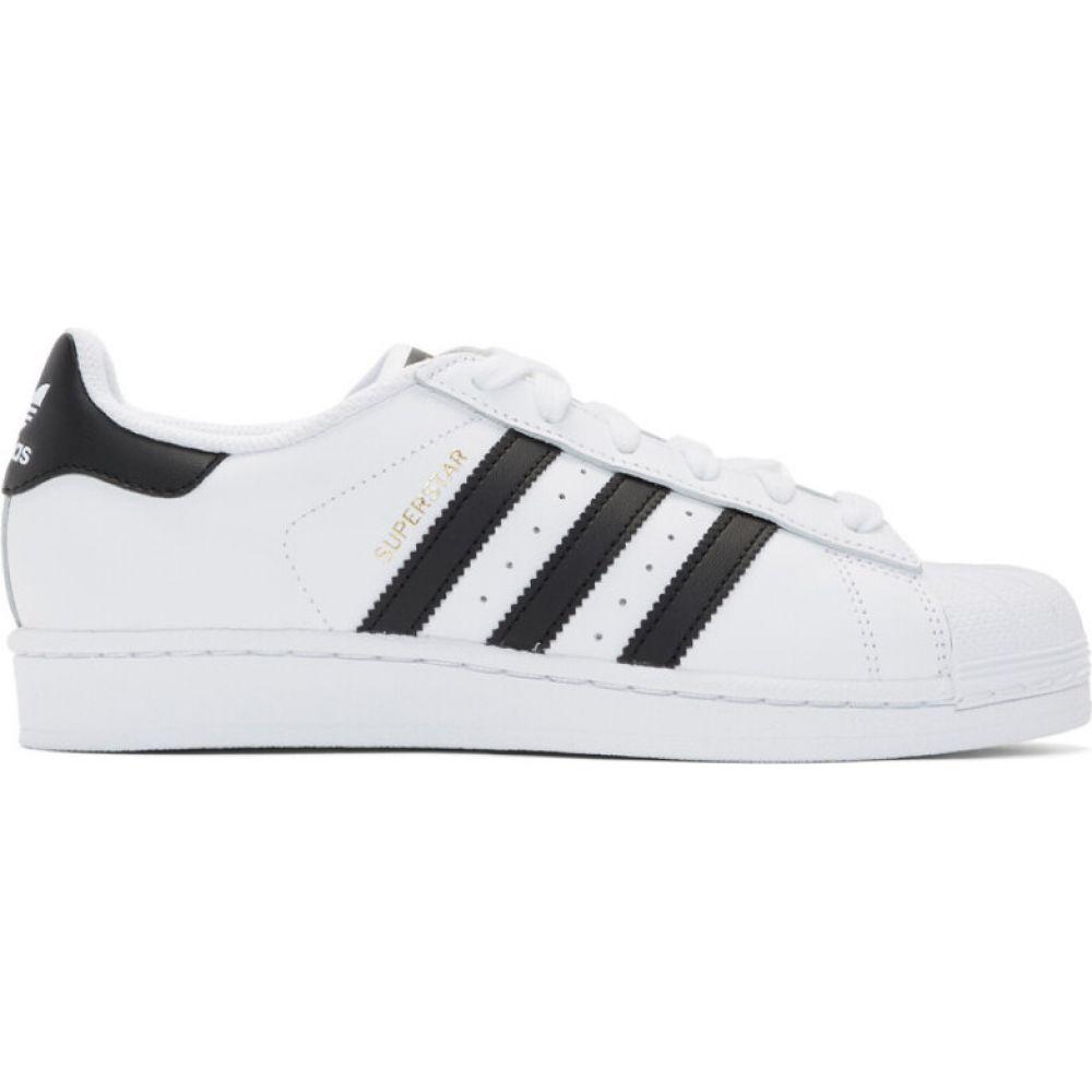 アディダス adidas Originals レディース スニーカー シューズ・靴【white & black superstar sneakers】Cloud white/Core black/Cloud white