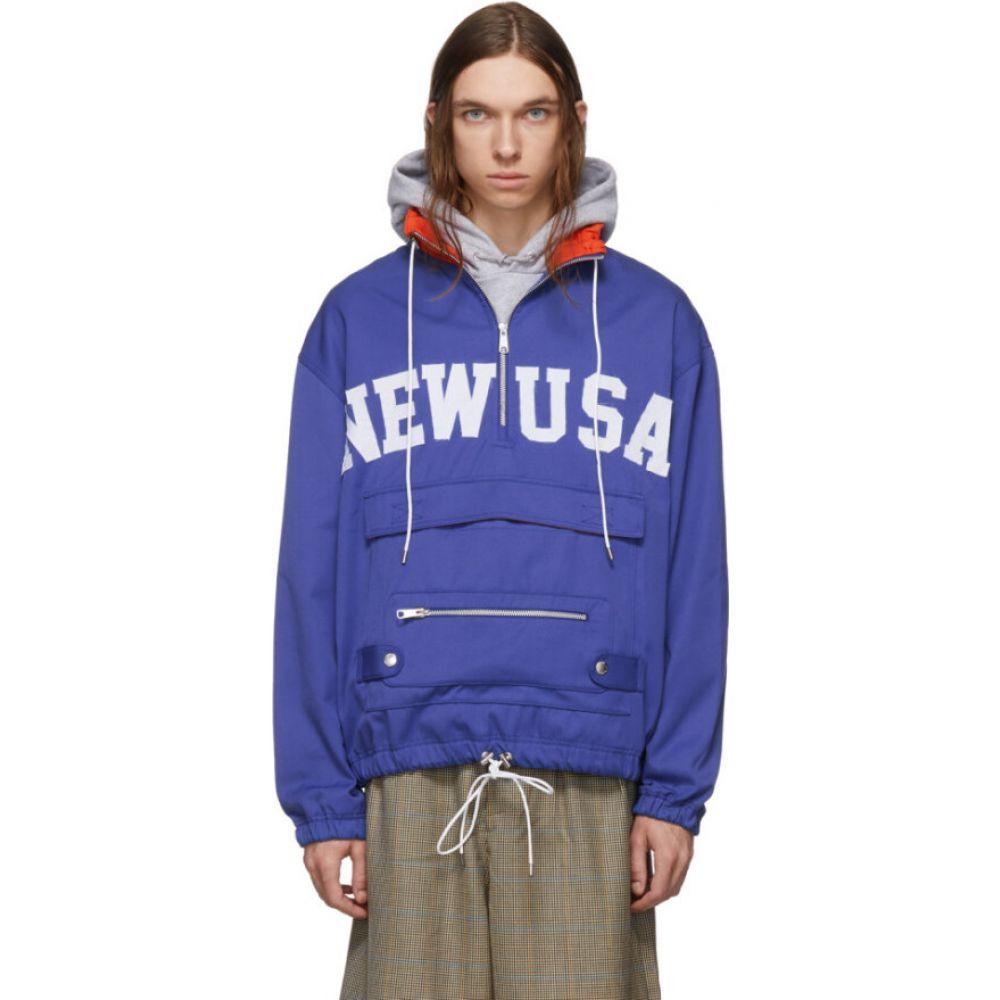 ランドロード Landlord メンズ ジャケット アノラック アウター【blue 'new usa' anorak jacket】Blue