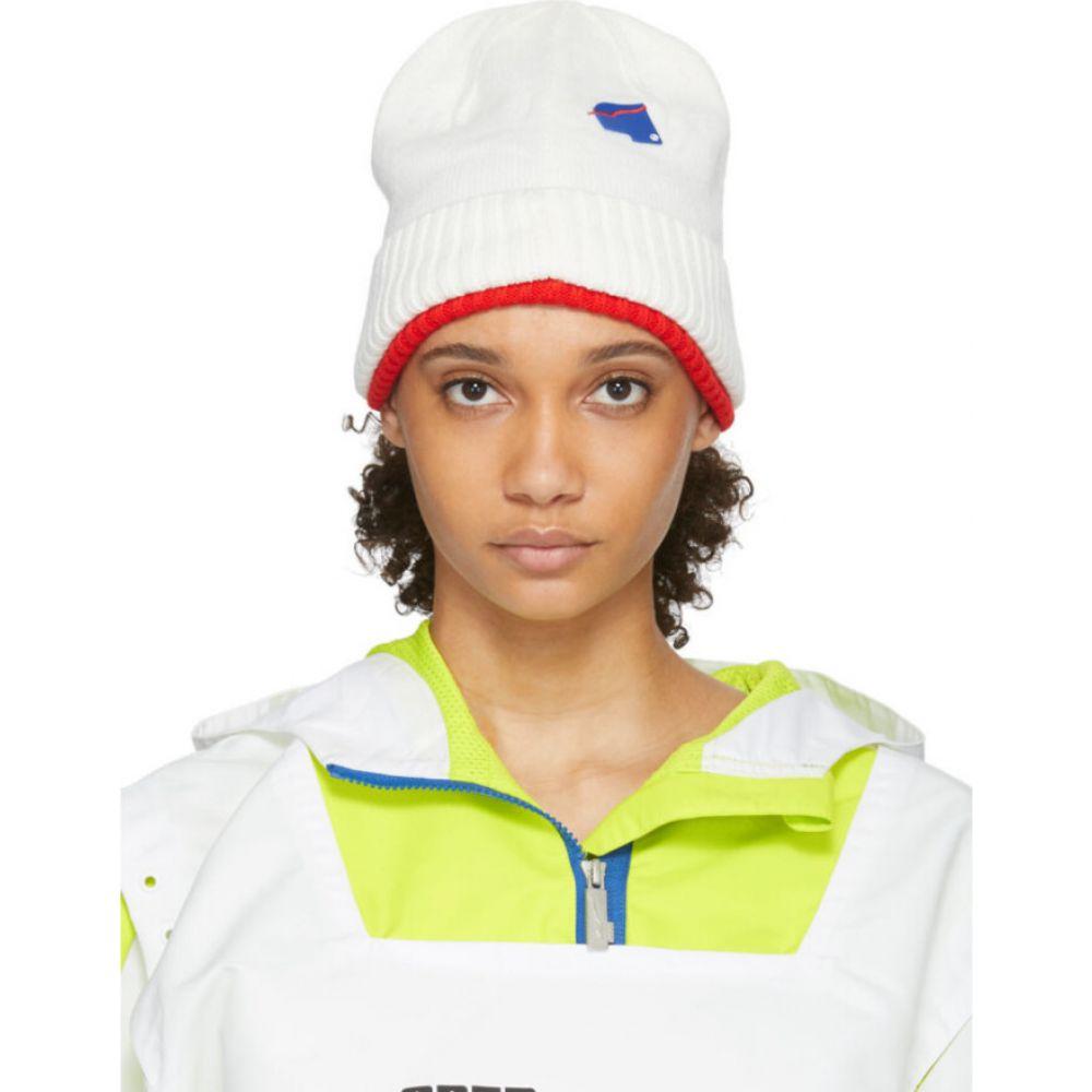 アーダーエラー ADER error レディース ニット ビーニー 帽子【white & red puma edition knit beanie】Puma white