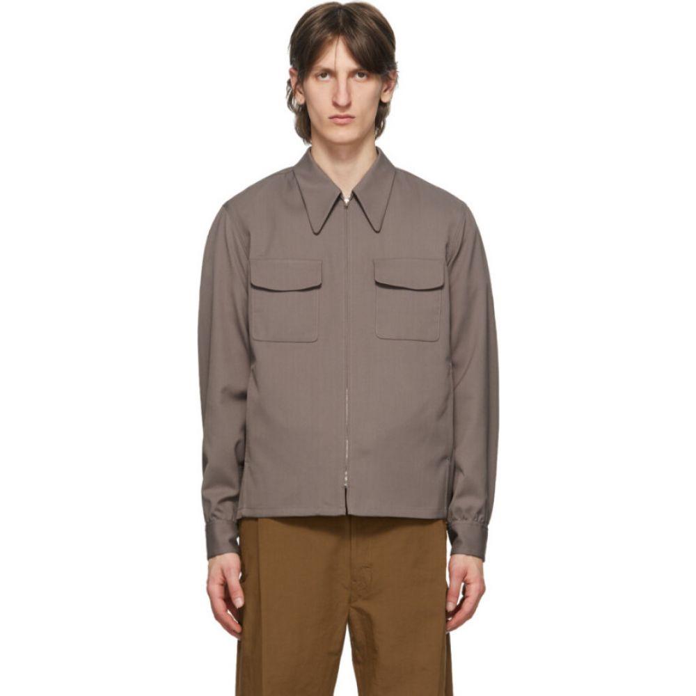 ルメール Lemaire メンズ ブルゾン アウター【taupe light blouson jacket】Iron