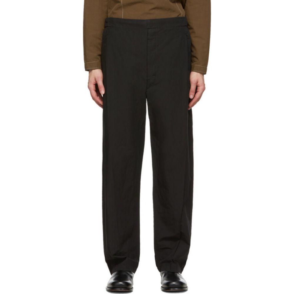 ルメール Lemaire メンズ ボトムス・パンツ 【black pleated drawstring trousers】Black