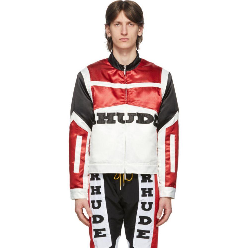 ルード Rhude メンズ ジャケット アウター【black & red satin racing jacket】Black/Red/Creme