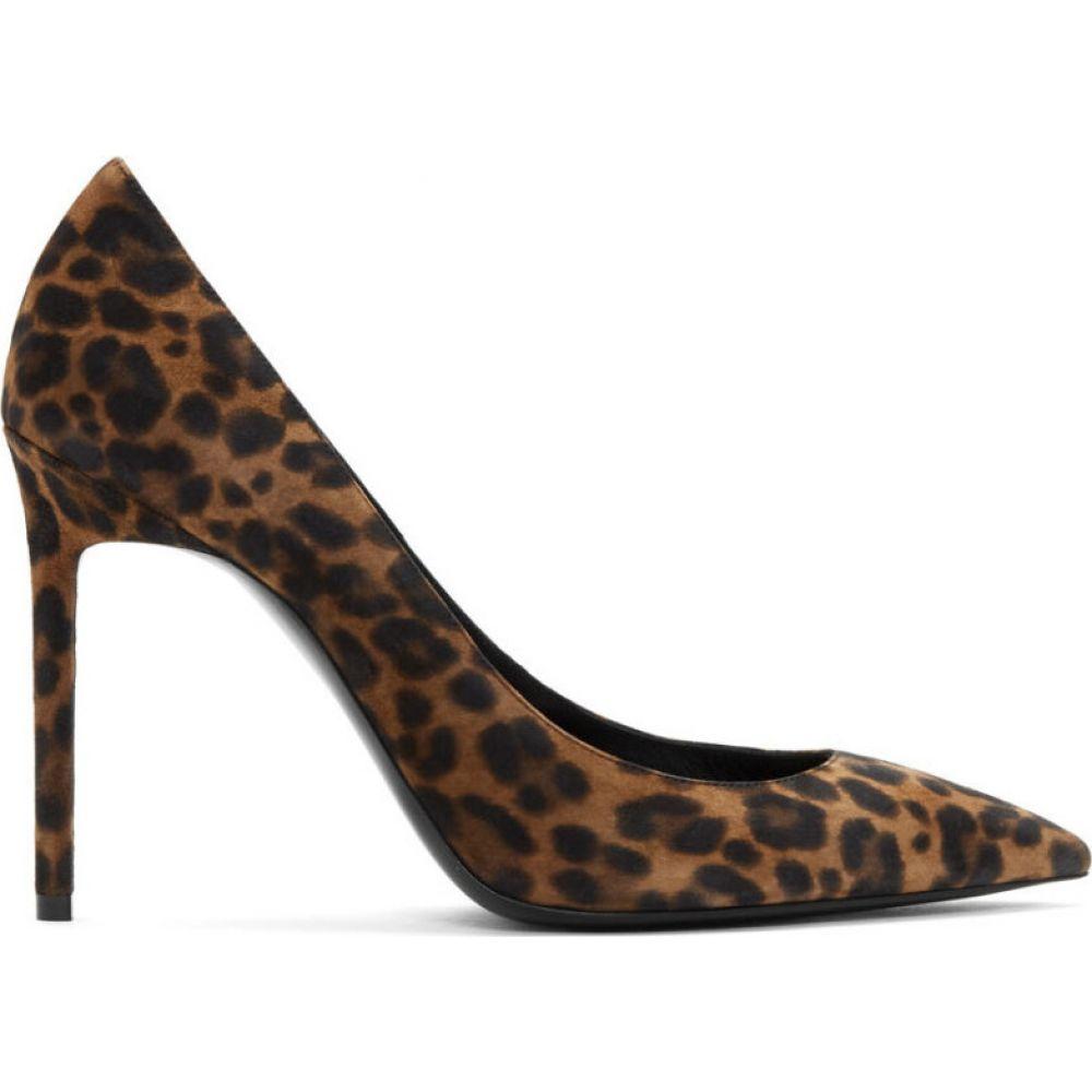 イヴ サンローラン Saint Laurent レディース ヒール シューズ・靴【brown leopard anja heels】Natural coffee
