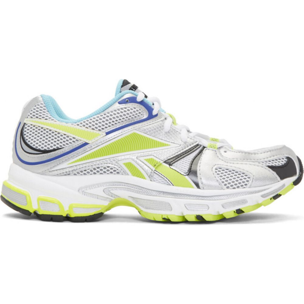 ヴェトモン VETEMENTS レディース スニーカー シューズ・靴【white reebok edition runner 200 sneakers】White/Silver/Lime