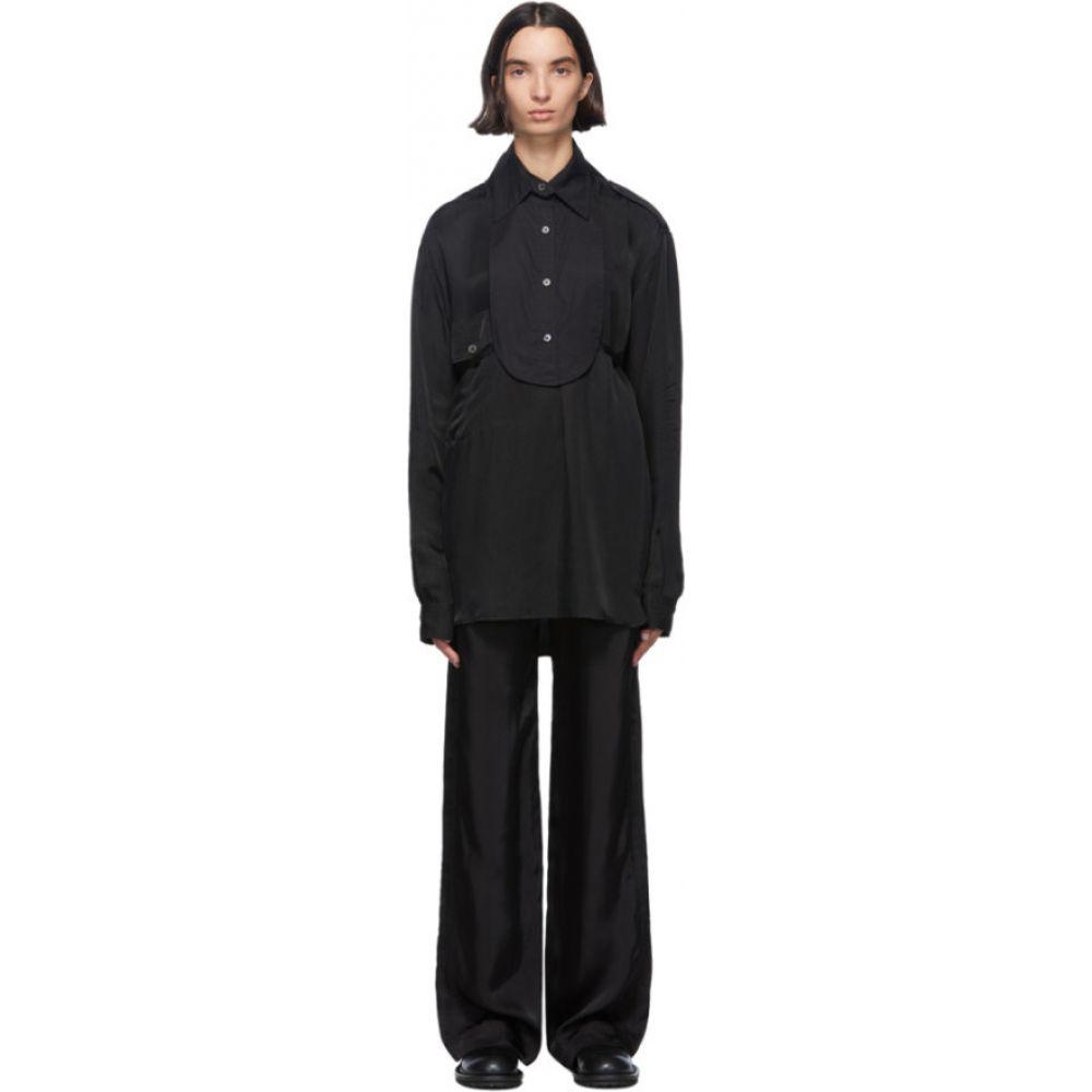 アンドゥムルメステール Ann Demeulemeester レディース ブラウス・シャツ トップス【black cotton bavet shirt】Black