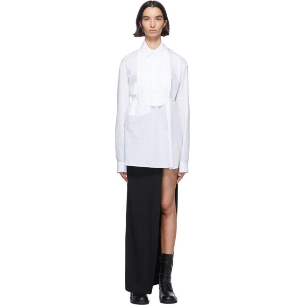 アンドゥムルメステール Ann Demeulemeester レディース ブラウス・シャツ トップス【white cotton bavet shirt】White