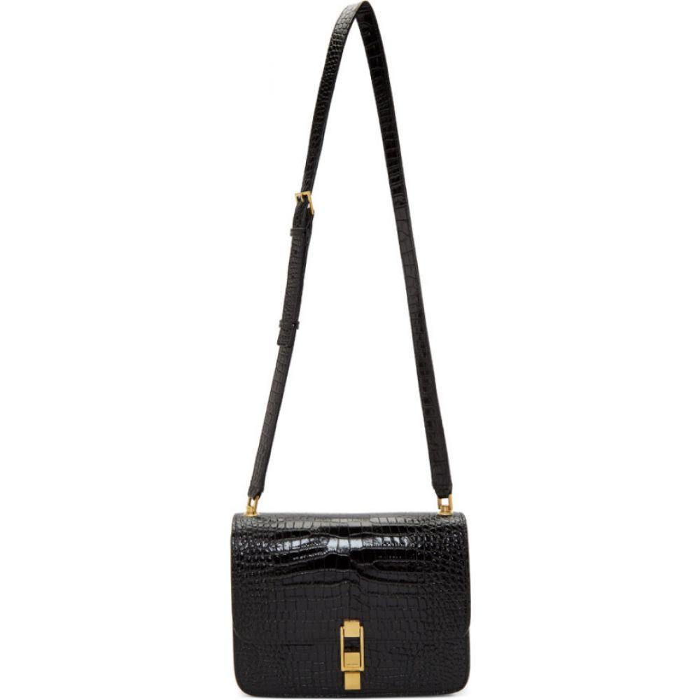 イヴ サンローラン Saint Laurent レディース ショルダーバッグ サッチェルバッグ バッグ black croc carre satchel bag Black セール,品質保証