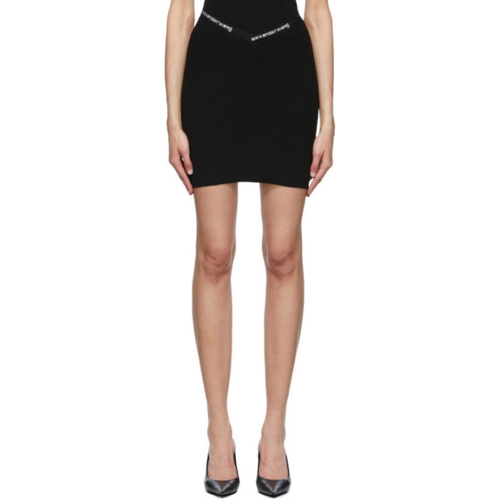 アレキサンダー ワン alexanderwang.t レディース ミニスカート スカート【black logo trim bodycon miniskirt】Black
