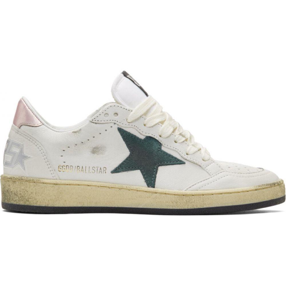 ゴールデン グース Golden Goose レディース スニーカー シューズ・靴【white & green superstar sneakers】White