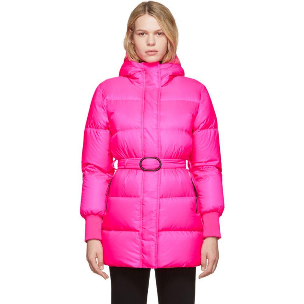 ケンゾー Kenzo レディース ダウン・中綿ジャケット アウター【pink down long quilted puffer jacket】Deep fuchsia