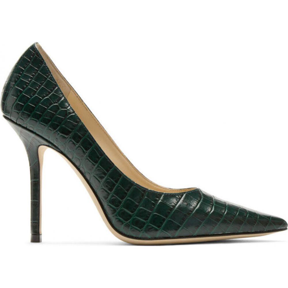 ジミー チュウ Jimmy Choo レディース ヒール シューズ・靴【green croc love 100 heels】Dark green