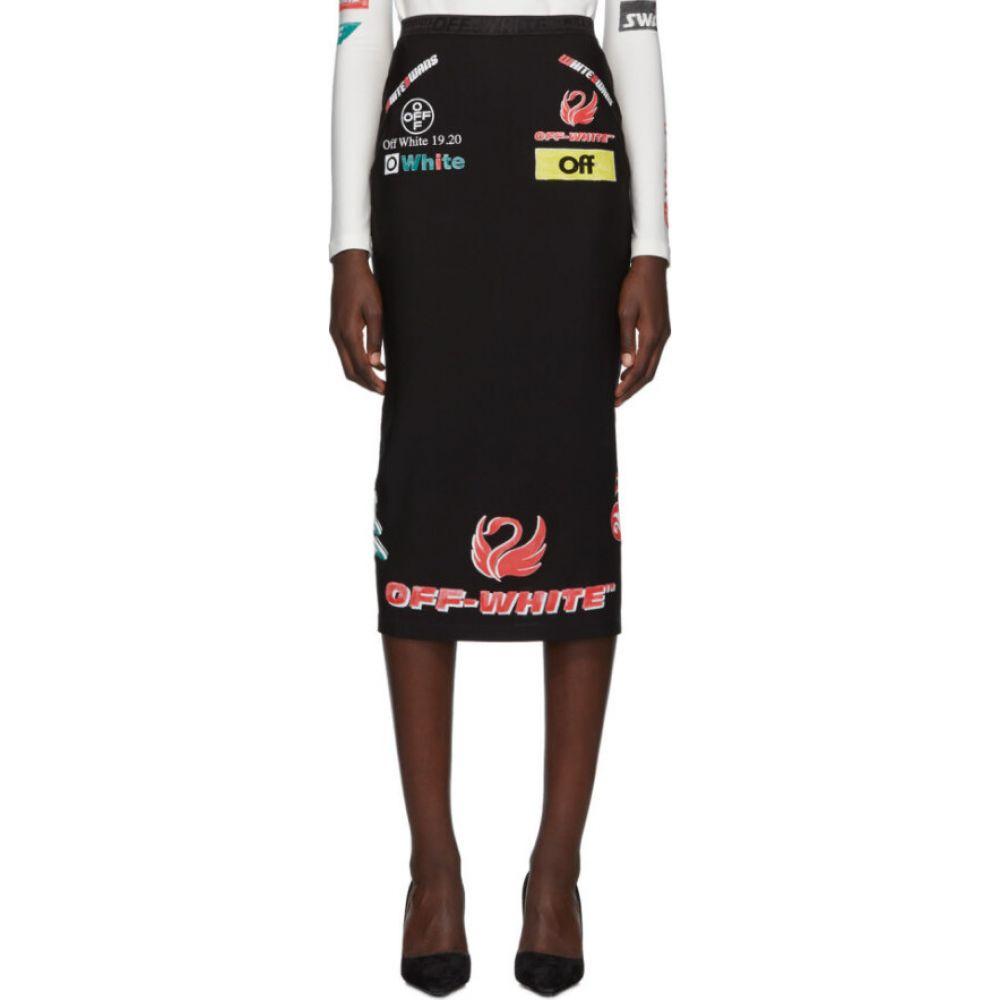 オフホワイト Off-White レディース ひざ丈スカート スカート【ssense exclusive black multi-logo sporty skirt】Black/Multicolor