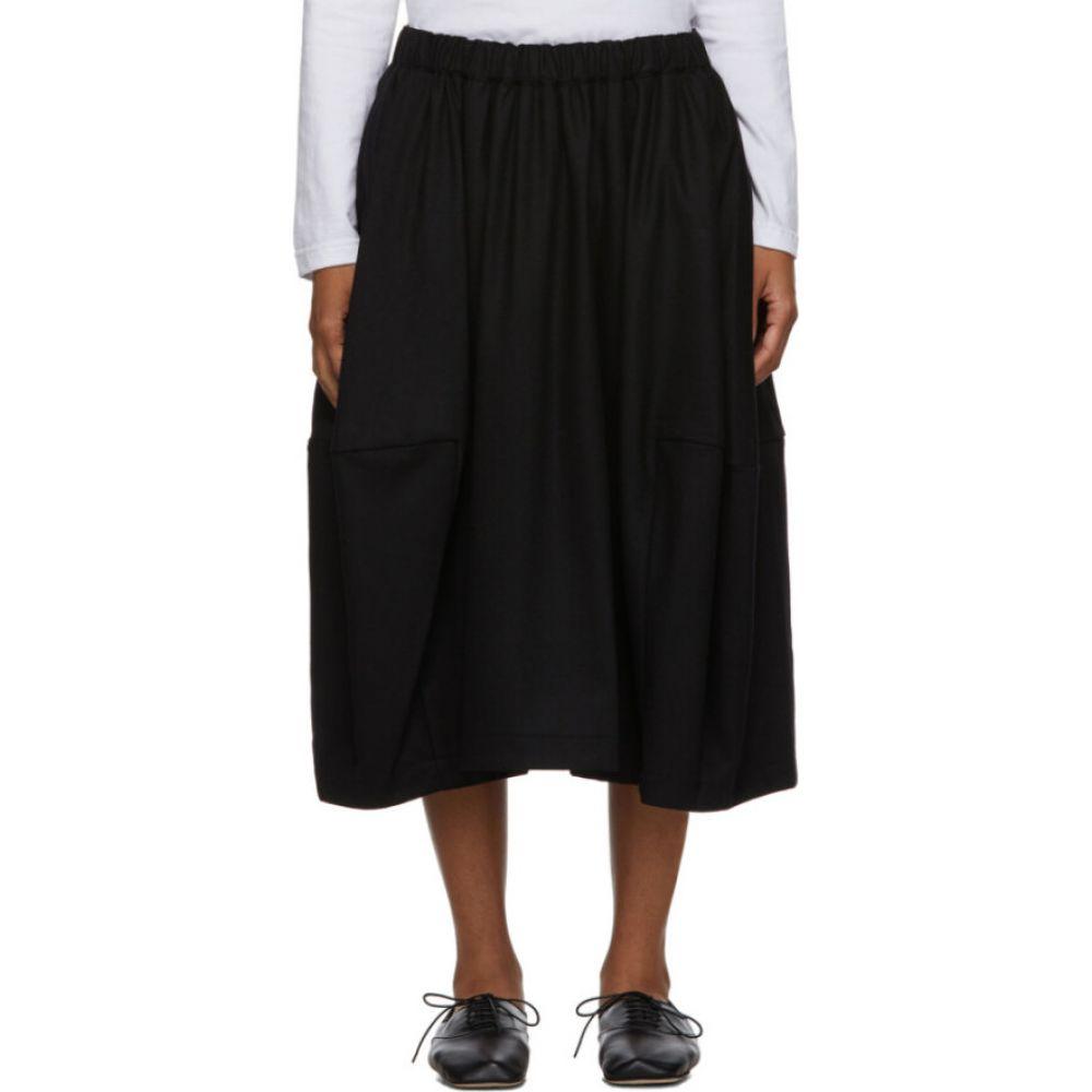 コム デ ギャルソン Comme des Garcons Comme des Garcons レディース ひざ丈スカート スカート【black wide side-seam skirt】Black