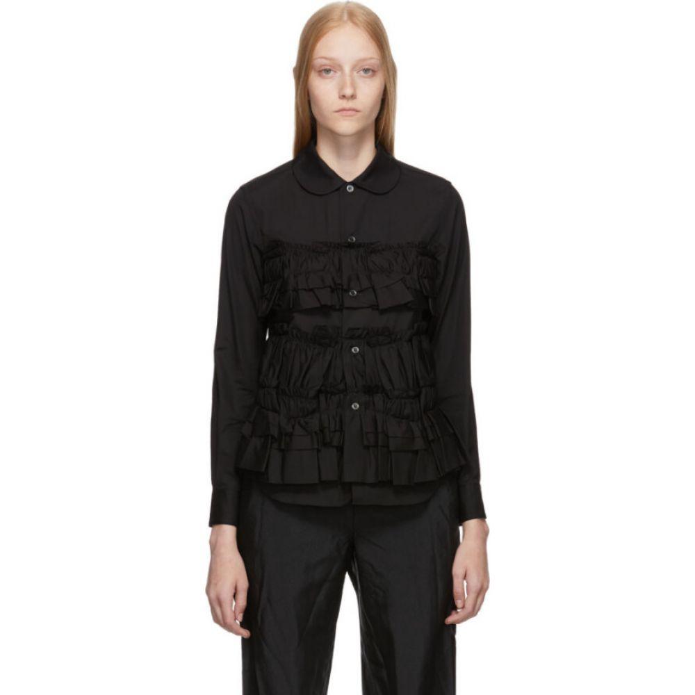 コム デ ギャルソン Comme des Garcons Comme des Garcons レディース ブラウス・シャツ トップス【black layered ruffle shirt】Black