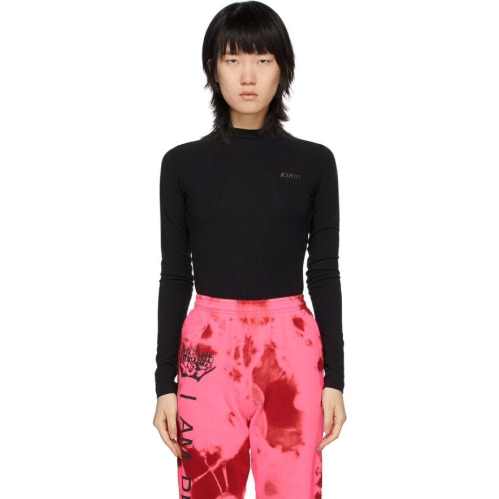 キリン Kirin レディース ボディースーツ インナー・下着【black open back bodysuit】Black