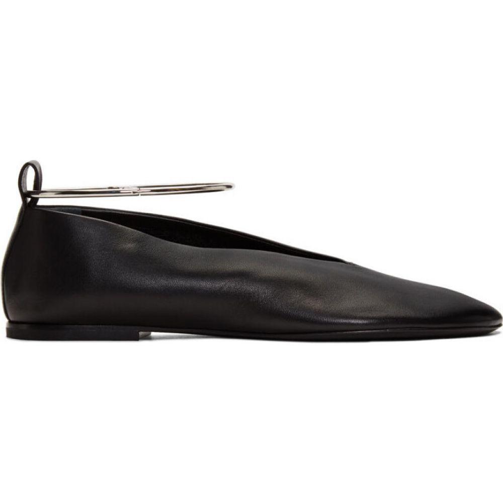 ジル サンダー Jil Sander レディース スリッポン・フラット シューズ・靴【black ankle cuff ballerina flats】Black