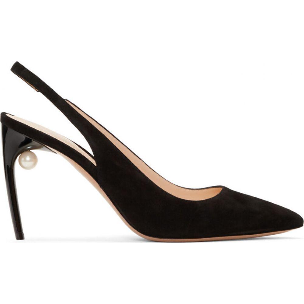 ニコラス カークウッド Nicholas Kirkwood レディース パンプス シューズ・靴【black suede mia pump pearl heels】Black