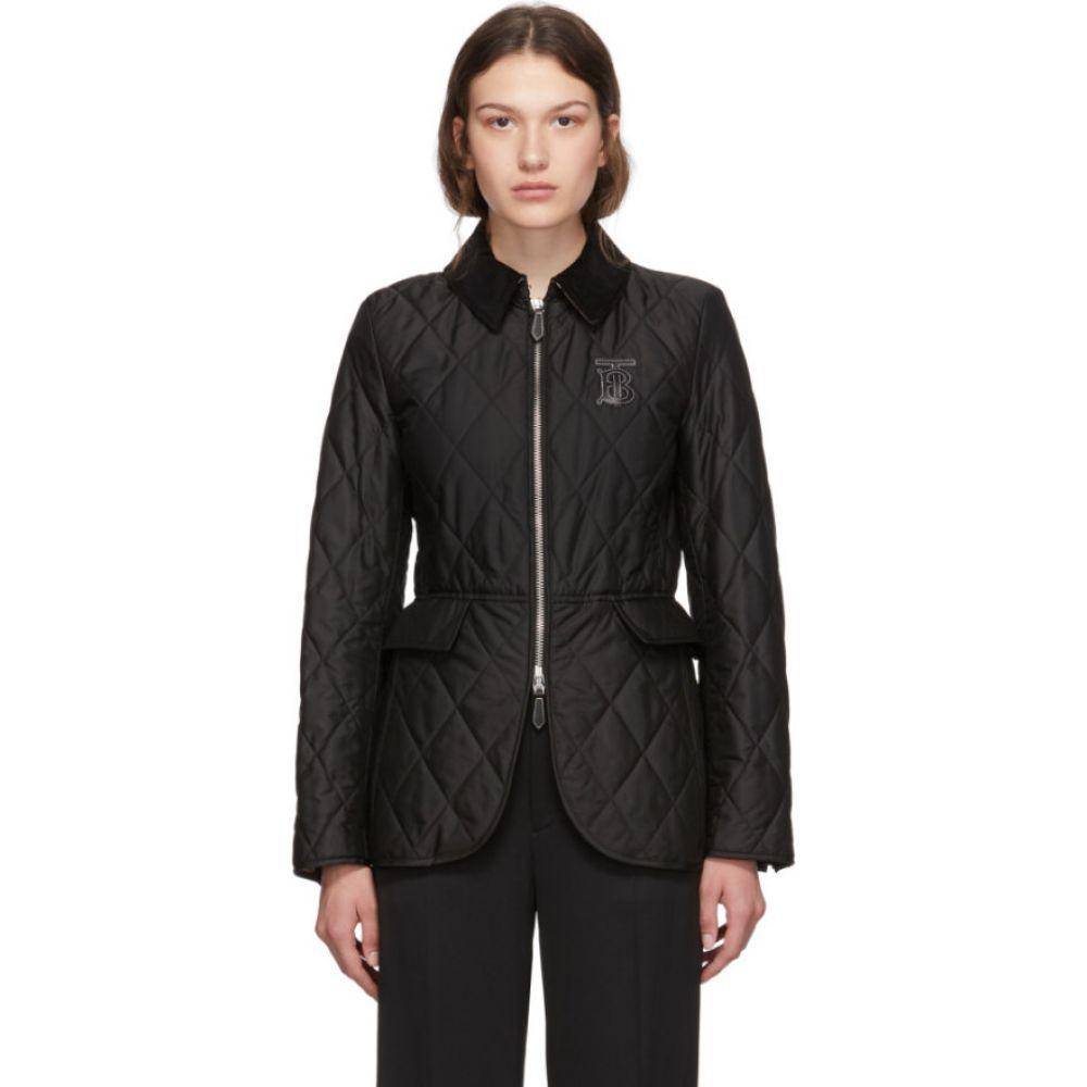 バーバリー Burberry レディース ダウン・中綿ジャケット アウター【black quilted ongar jacket】Black