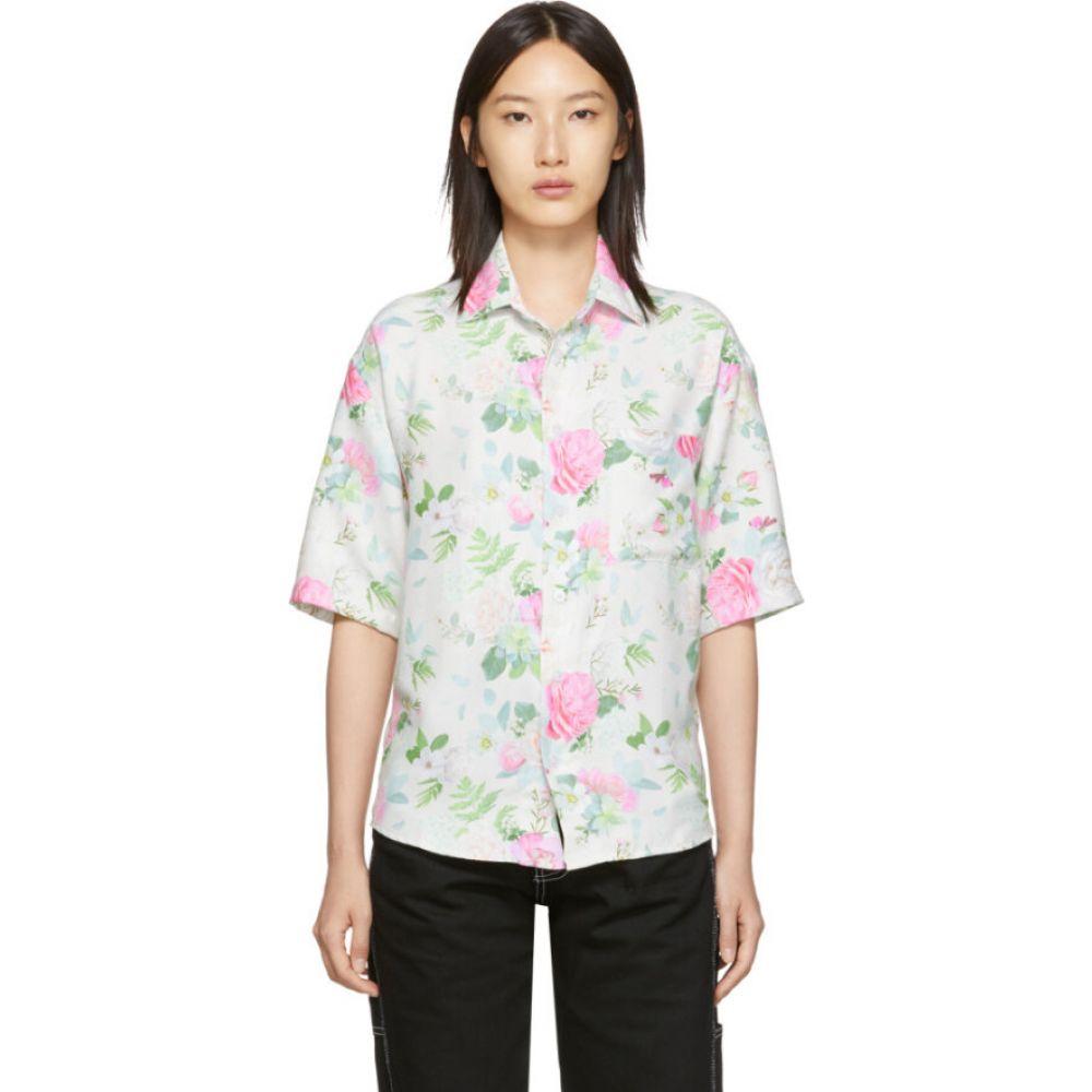 ヌーン グーンズ Noon Goons レディース ブラウス・シャツ トップス【white & multicolor prom shirt】Rose