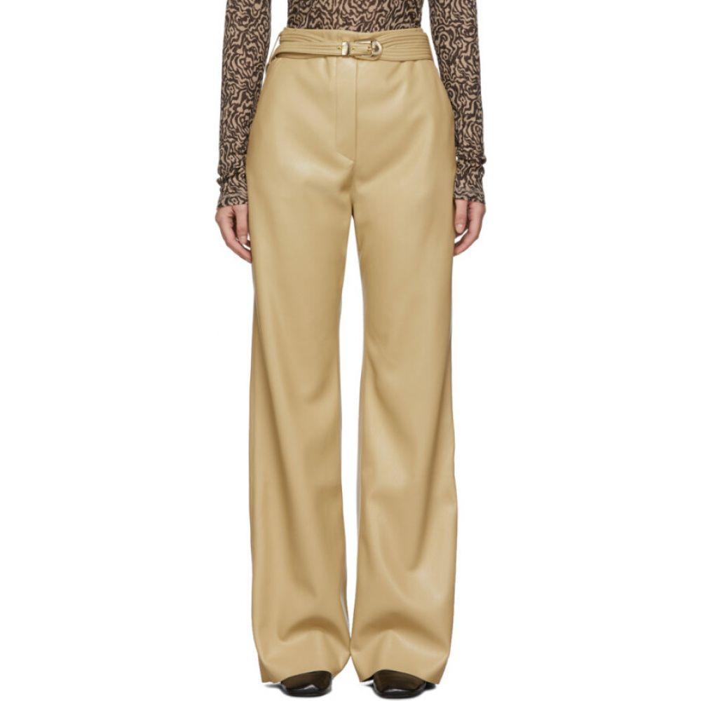 ナヌシュカ Nanushka レディース ボトムス・パンツ 【tan vegan leather kisa trousers】Yellow