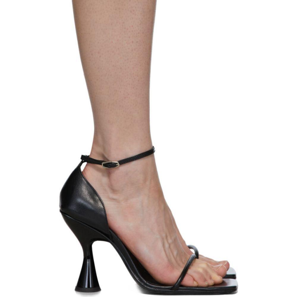 ドラティムール Dorateymur レディース サンダル・ミュール シューズ・靴【black strappy heeled sandals】Black