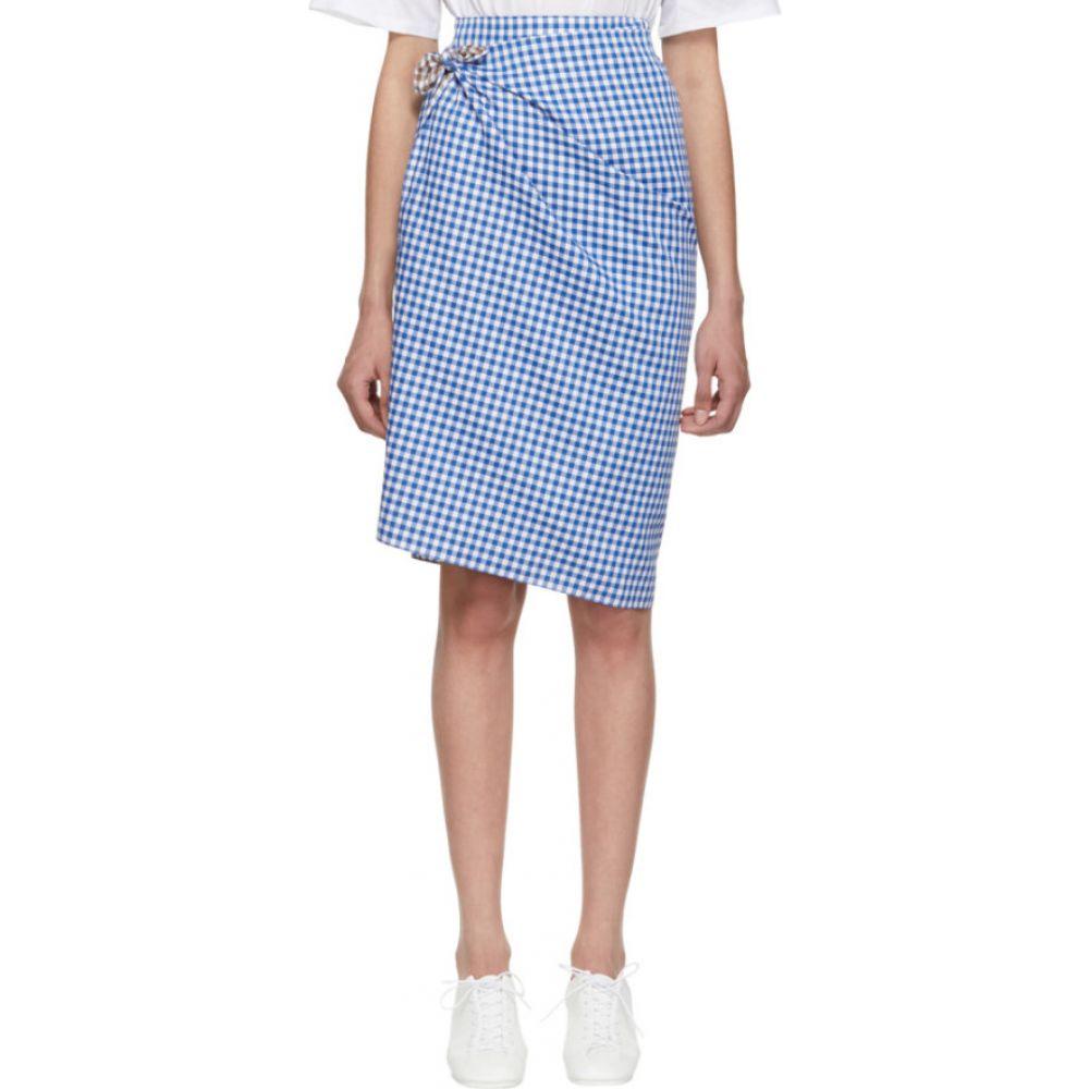 ポーツ 1961 Ports 1961 レディース ひざ丈スカート スカート【blue & brown gingham multi-styling skirt】White/Blue