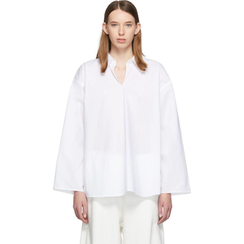 メゾン マルジェラ MM6 Maison Margiela レディース ブラウス・シャツ トップス【white keyhole shirt】White