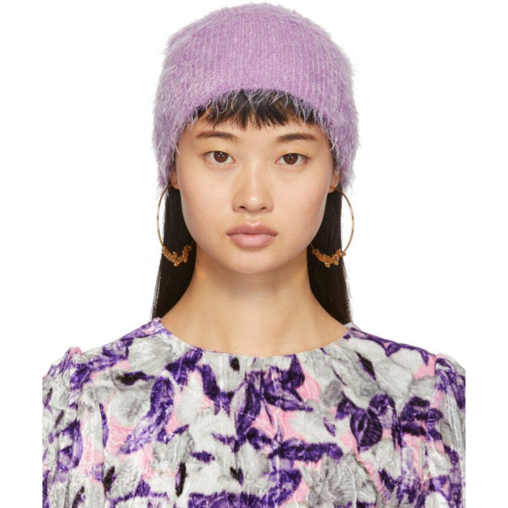 マーク ジェイコブス Marc Jacobs レディース ニット ビーニー 帽子【purple furry beanie】Lilac