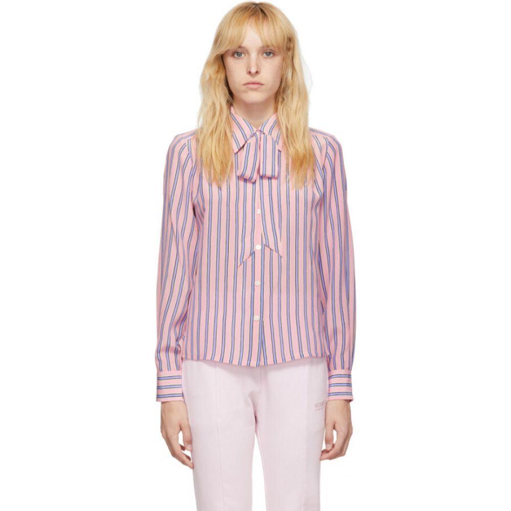 マーク ジェイコブス Marc Jacobs レディース ブラウス・シャツ トップス【pink striped silk sofia loves shirt】Light pink