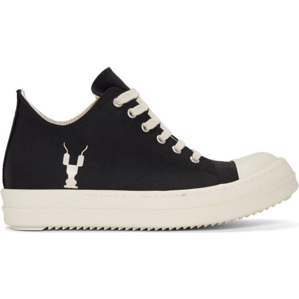 リック オウエンス Rick Owens Drkshdw レディース スニーカー シューズ・靴【black grosgrain low sneakers】Black/Milk