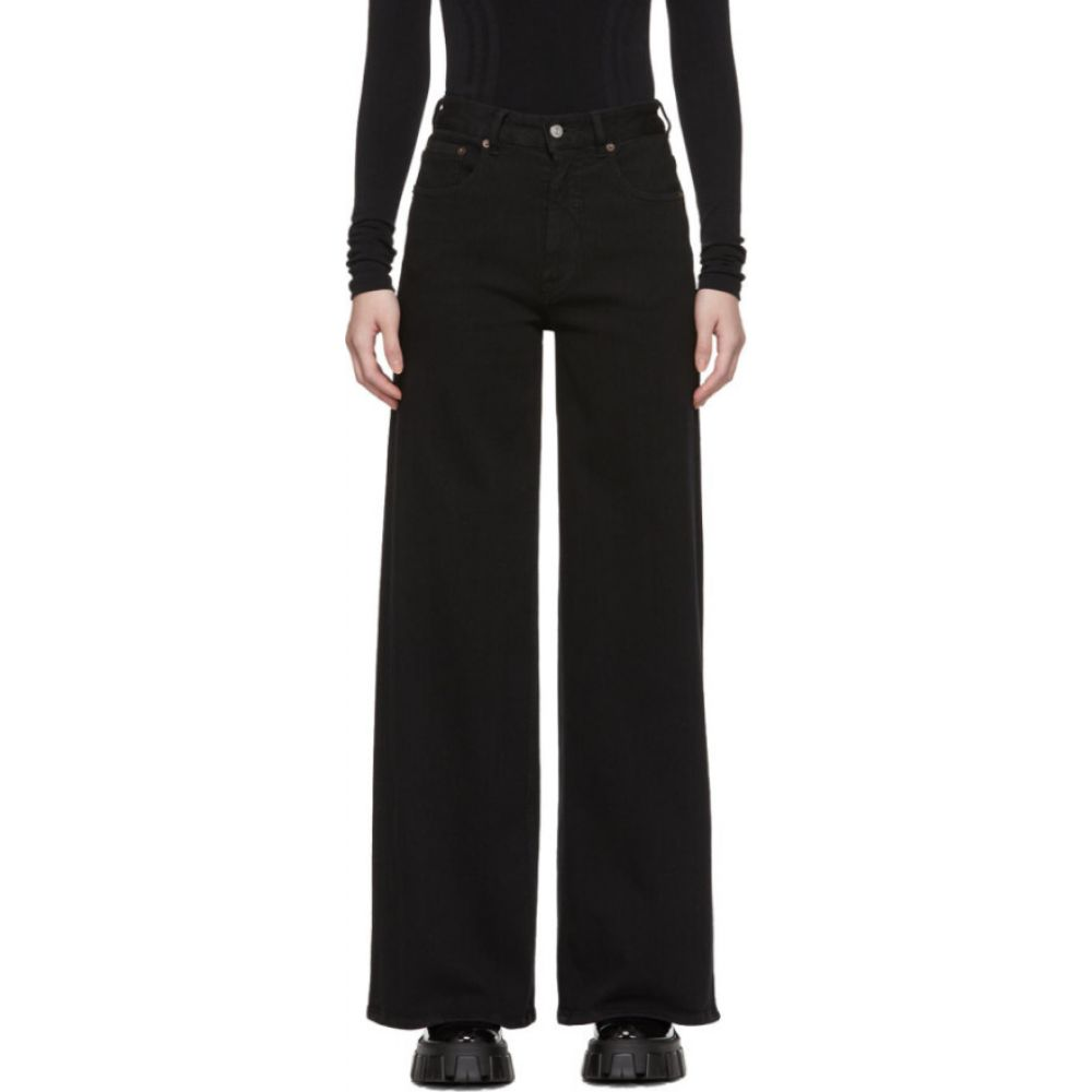 メゾン マルジェラ MM6 Maison Margiela レディース ジーンズ・デニム ボトムス・パンツ【black wide jeans】Black