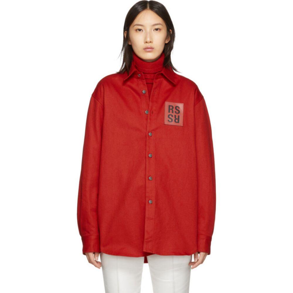 ラフ シモンズ Raf Simons レディース ブラウス・シャツ デニム トップス【red denim slim fit shirt】Red