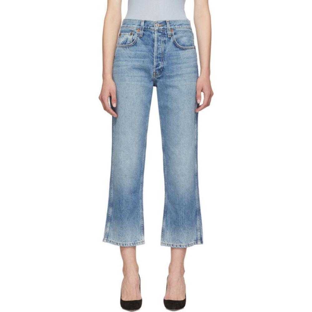 リダン Re/Done レディース ジーンズ・デニム ボトムス・パンツ【blue originals low slung crop jeans】Perfect fade