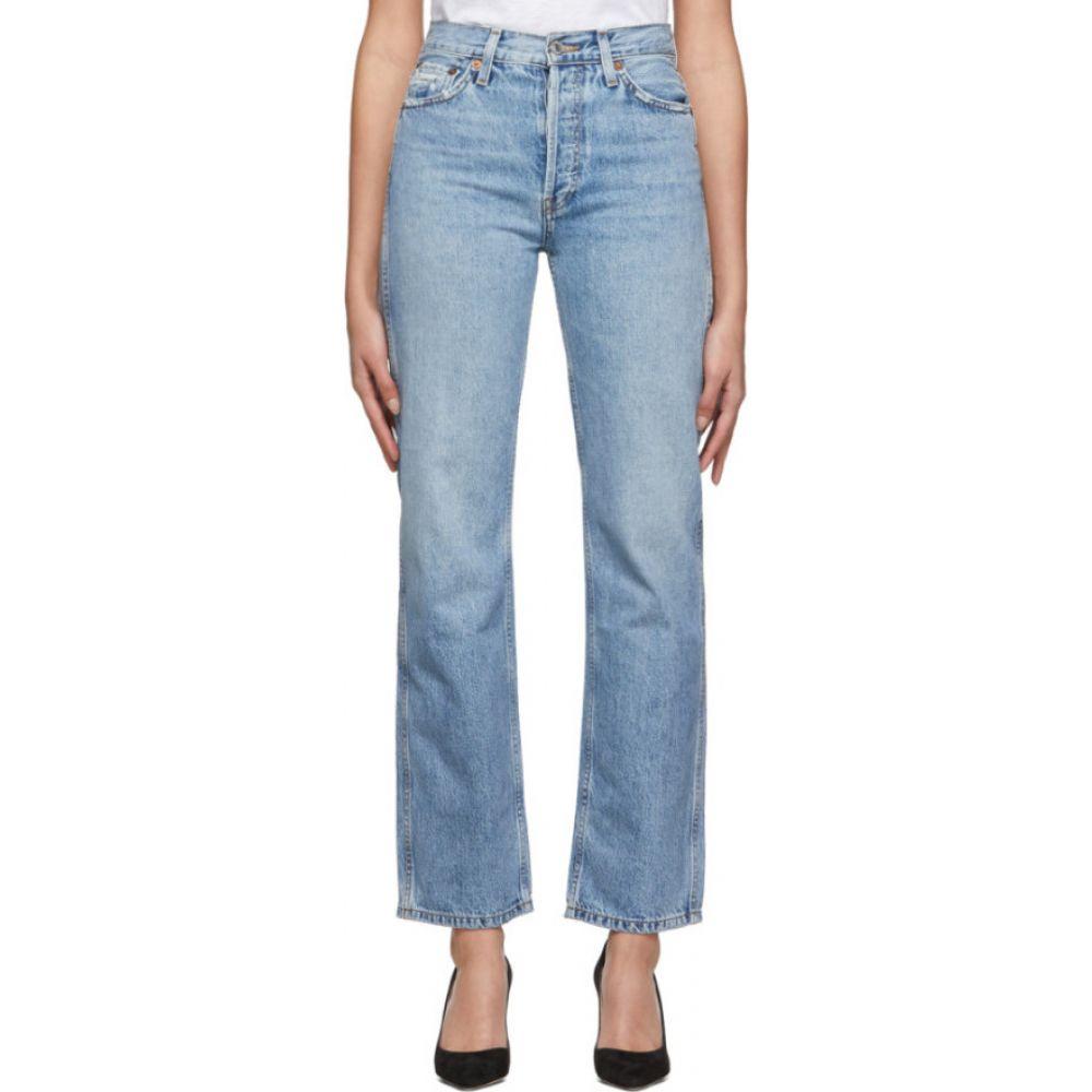 リダン Re/Done レディース ジーンズ・デニム ボトムス・パンツ【blue originals high-rise loose jeans】Worn blue
