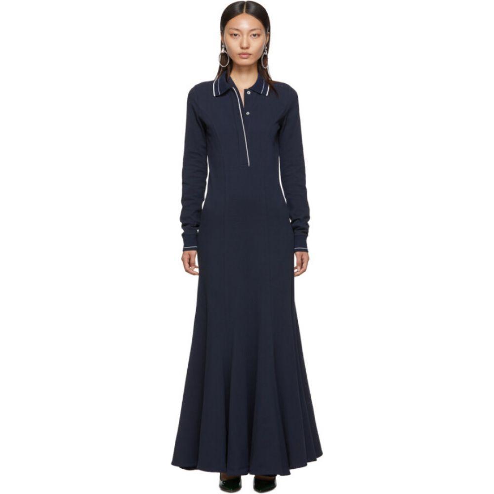 ワイプロジェクト Y/Project レディース ワンピース ポロ ワンピース・ドレス【navy polo dress】Navy