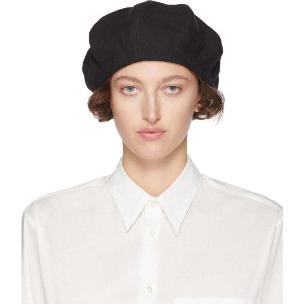 ワイズ Y's レディース ニット 帽子【black tied hunting cap】Black