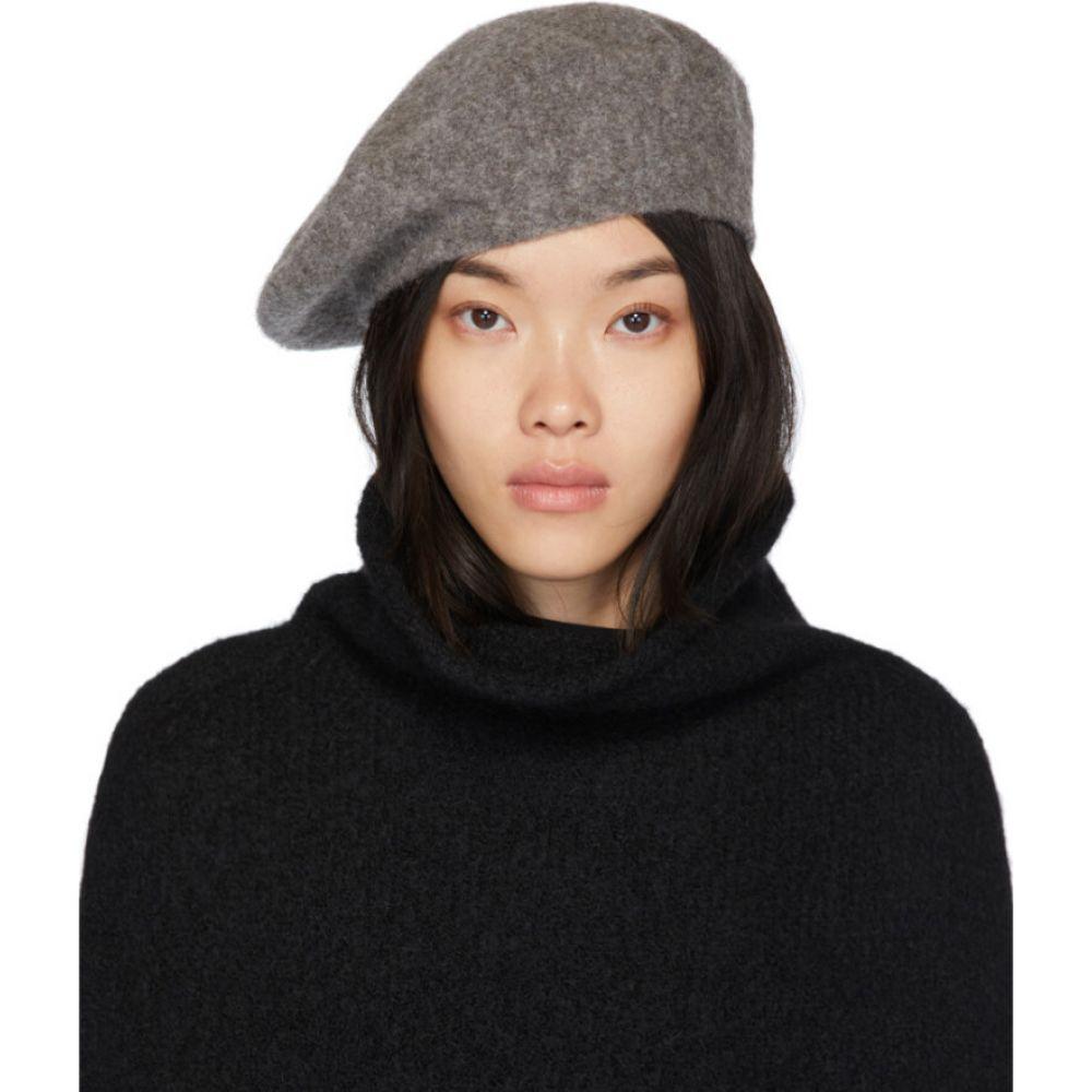 ローレンマヌーギアン Lauren Manoogian レディース ニット ベレー帽 帽子【grey horizontal beret】Grey melange