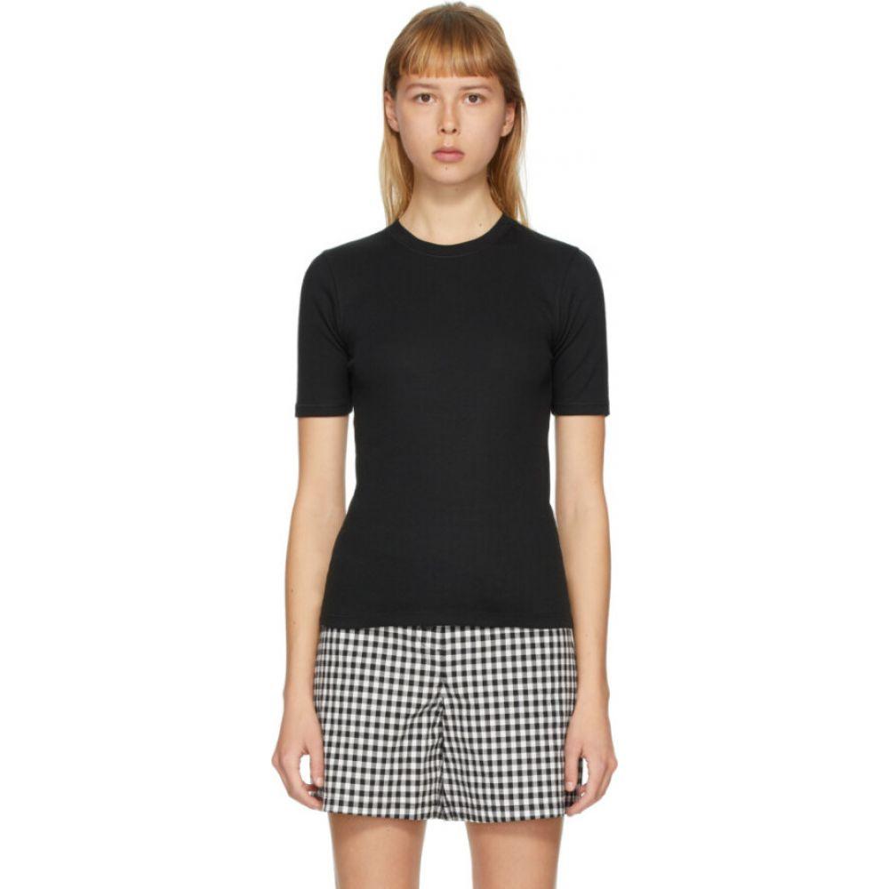 ラグ&ボーン rag & bone レディース Tシャツ トップス【black 'the rib slim' t-shirt】Black