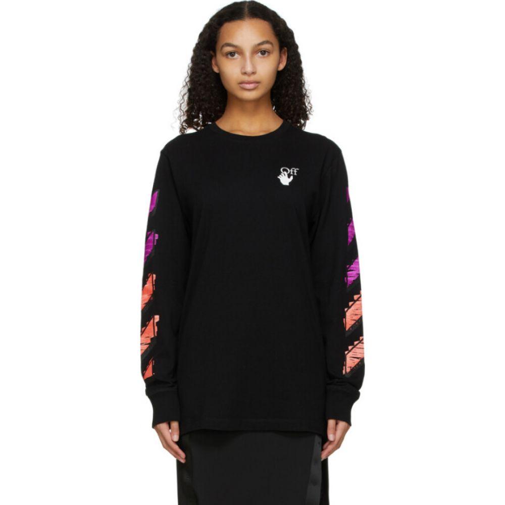 <title>オフホワイト レディース トップス 長袖Tシャツ Black サイズ交換無料 Off-White Marker 卓抜 Long Sleeve T-Shirt</title>
