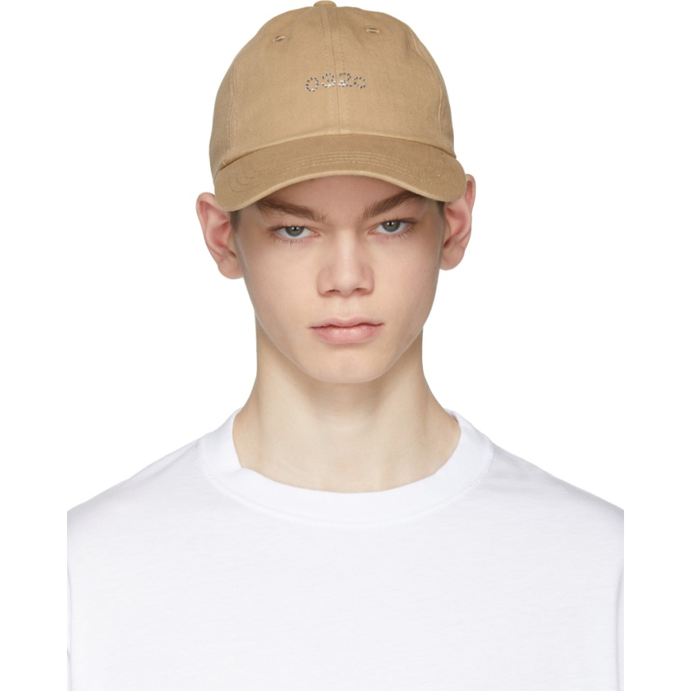 032c メンズ 帽子 キャップ【Tan Crystal Logo Cap】