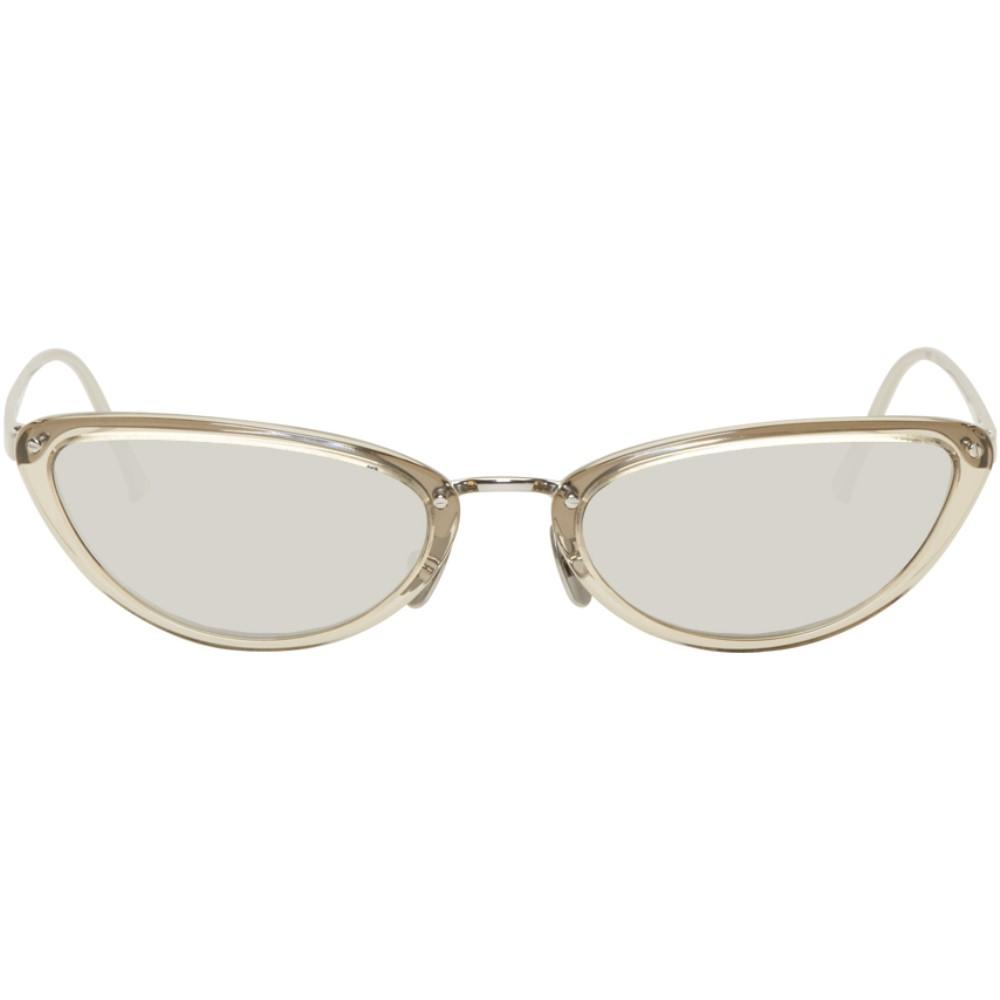 リンダ ファロー レディース メガネ・サングラス【Grey & White Gold 709 C7 Sunglasses】