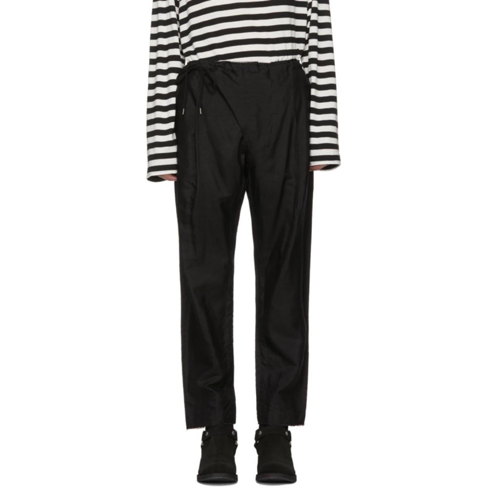 タカヒロミヤシタザソロイスト メンズ ボトムス・パンツ【Black Crossover Pyjama Trousers】