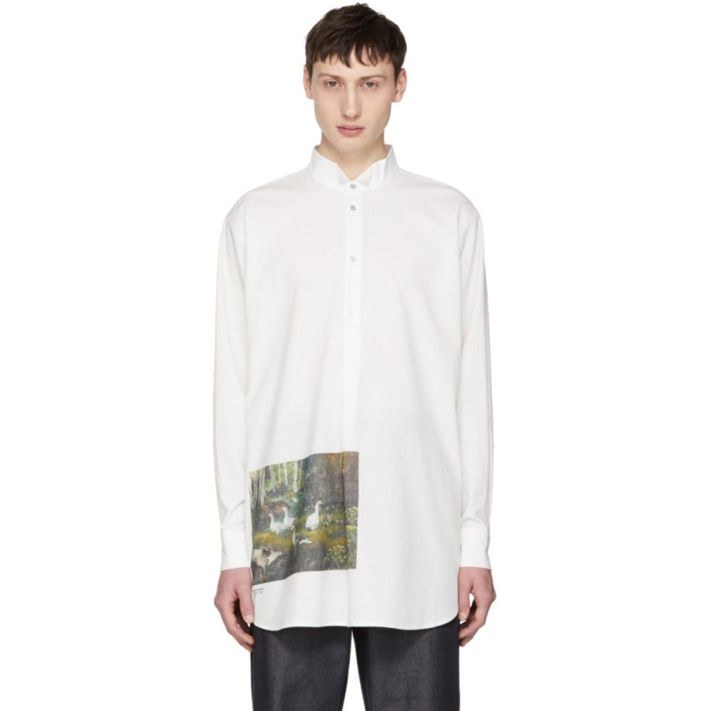 アクネ ストゥディオズ メンズ トップス シャツ【White Mosippa CTN Forest Shirt】