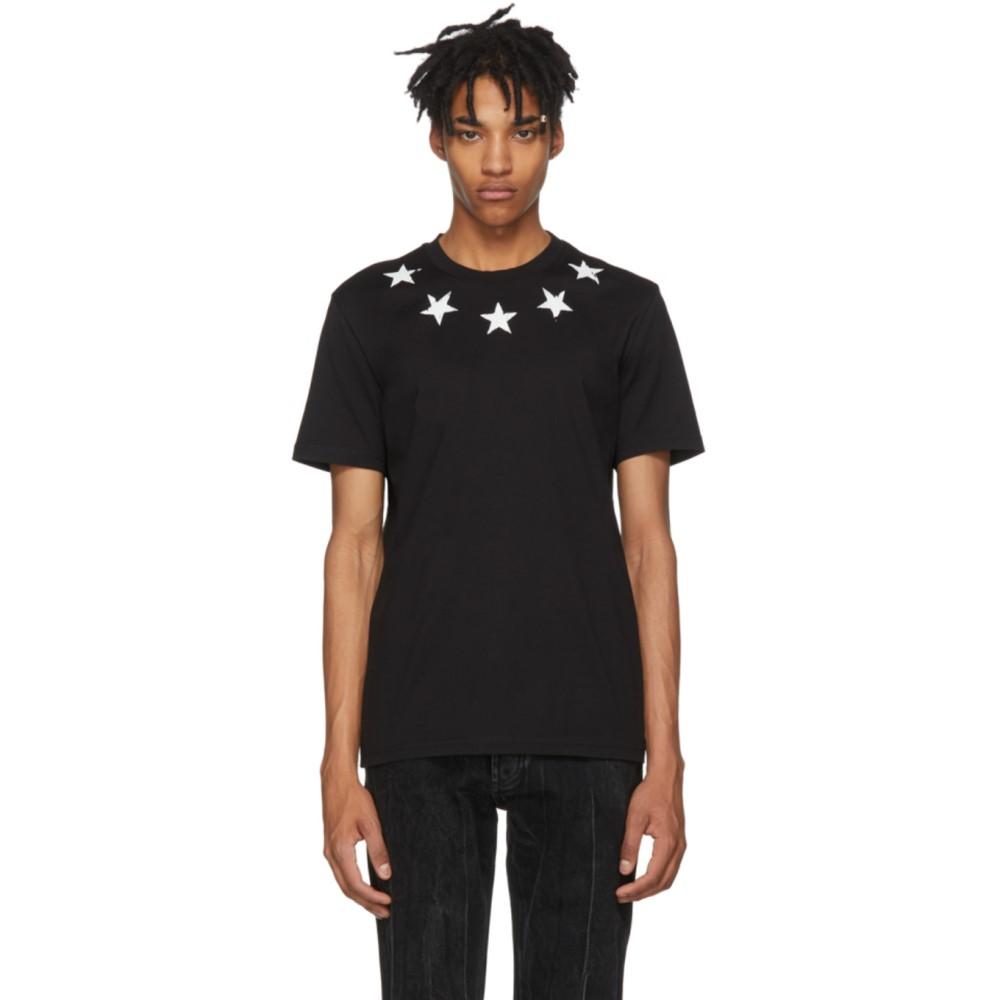 ジバンシー メンズ トップス Tシャツ【Black Vintage Stars T-Shirt】