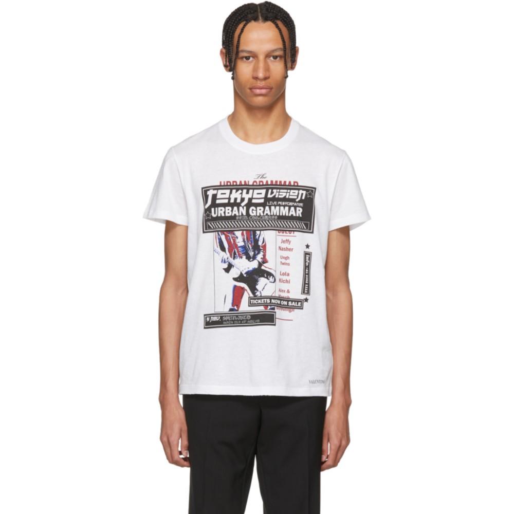 ヴァレンティノ メンズ トップス Tシャツ【White Tokyo Logo T-Shirt】