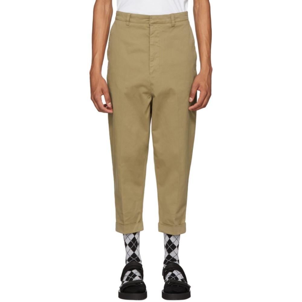 アミアレクサンドルマテュッシ メンズ ボトムス・パンツ【Beige Oversized Carrot Trousers】